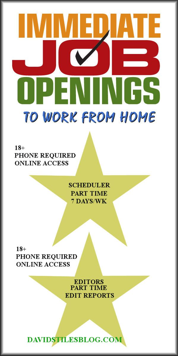 Immediate Job Openings To Work From Home Job Opening Working