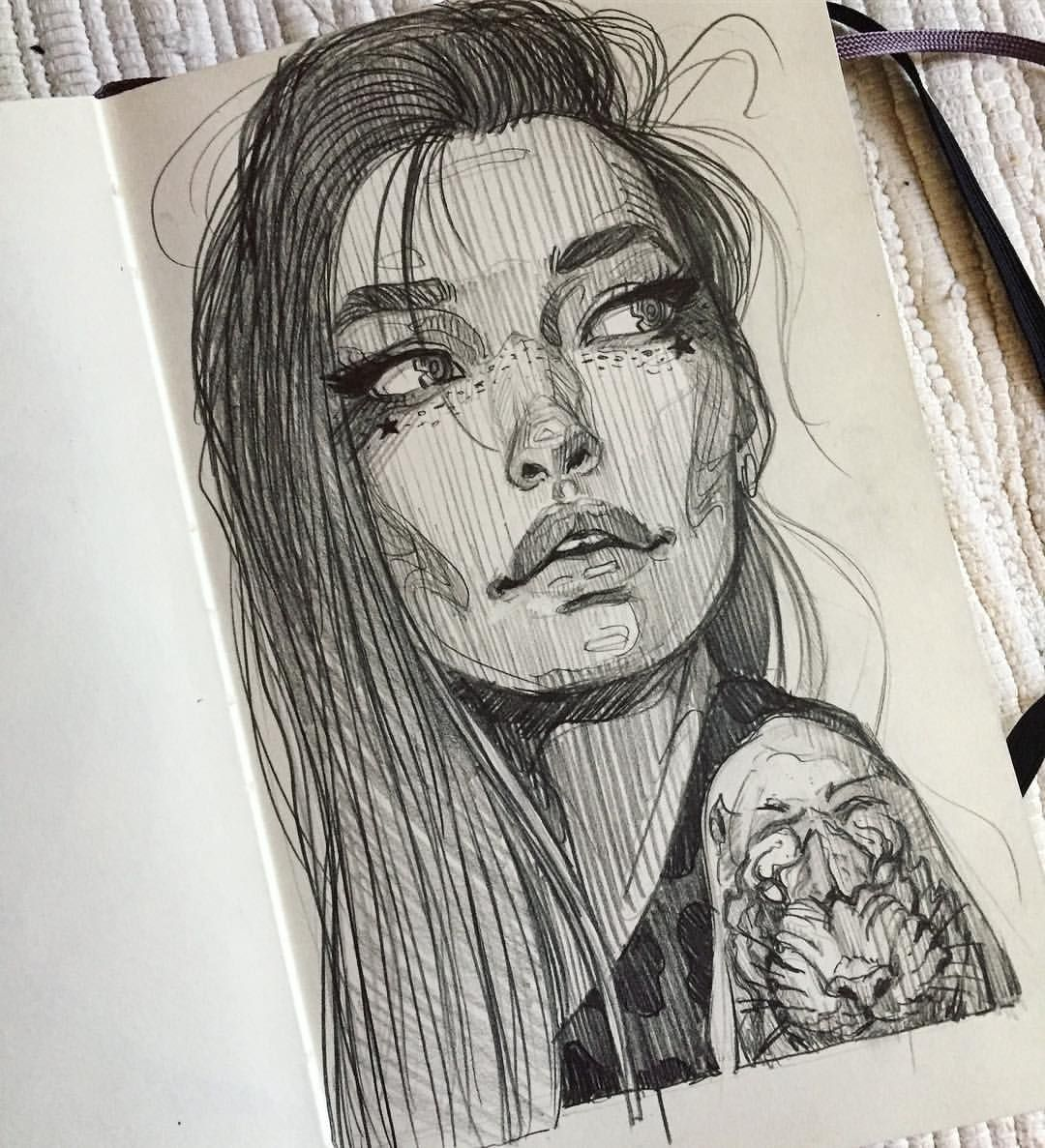 """Sunday Dreamer"" pencil on moleskin paper 2018 ️ swipe up"