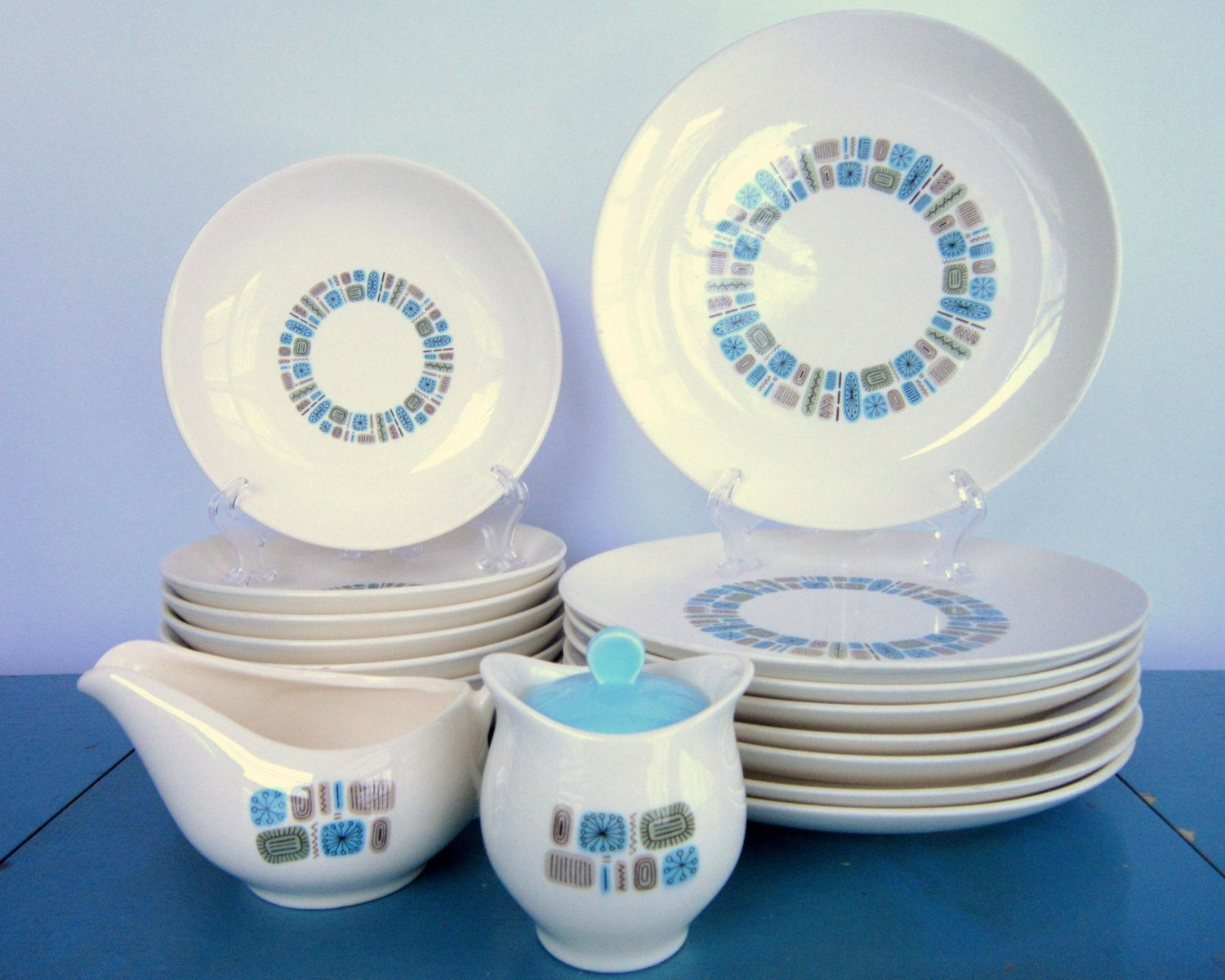 Vintage 1950s  Temporama  Dinnerware. This was a set we used growing up. : used dinnerware sets - pezcame.com