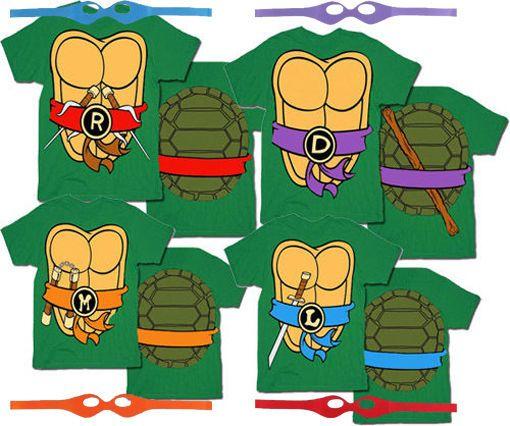 Photo of TMNT Teenage Mutant Ninja Turtles Costume T-Shirt Tee    eBa…