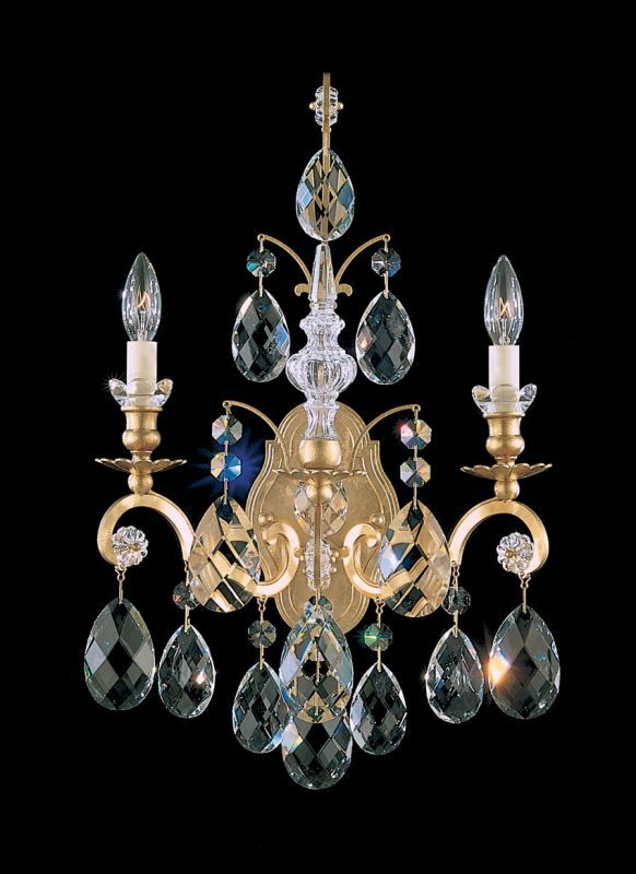 """Schonbek 3761 8"""" Wide 2 Light Candle-Style Wall Sconce from the Renaissance Coll"""