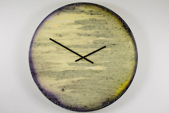 Extra Large Clock Modern Wall Lighting With Abstract Art Design