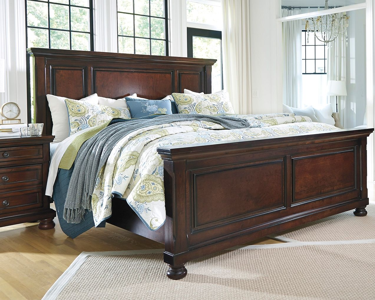 porter california king panel bed rustic brown products in 2019 rh pinterest com