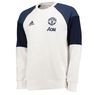 79f5bf5c Men's adidas White/Navy Manchester United 2017/18 Training Sweatshirt