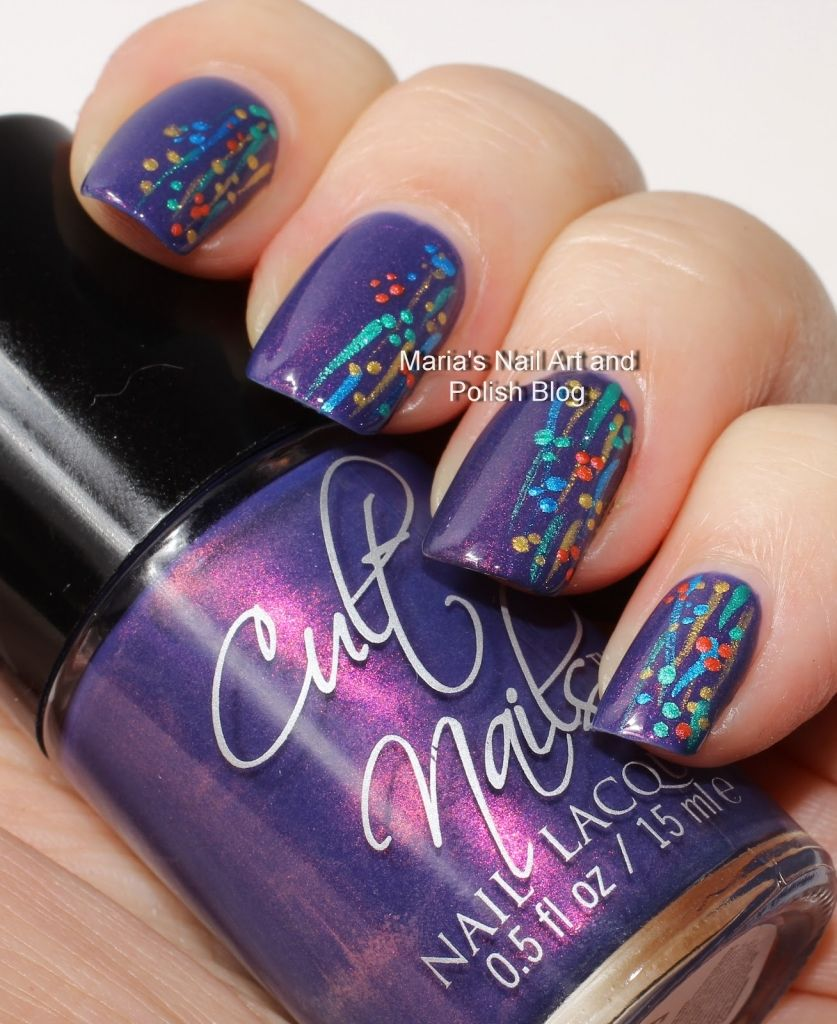 Strip Nail Art Marias Nail Art And Polish Blog Flushed With Stripes