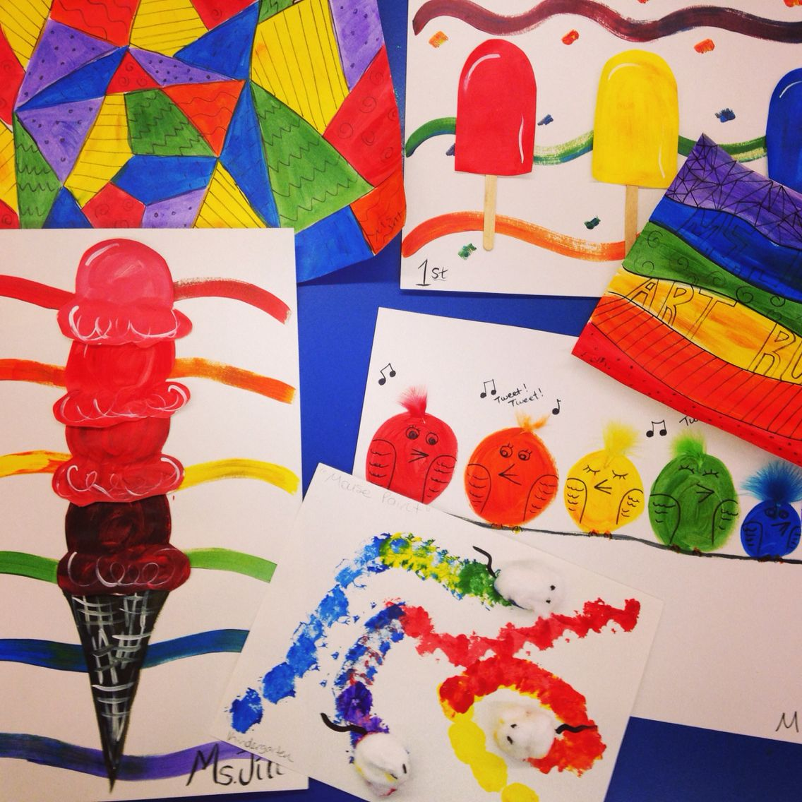 Elementary Art Lessons On Primary And Secondary Colors