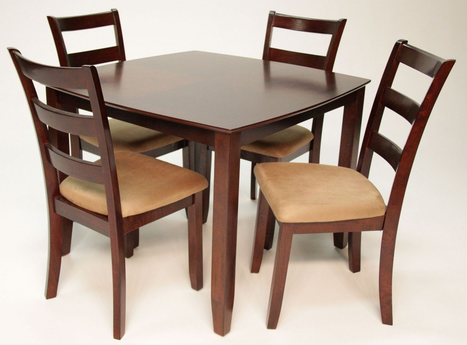table with 4 ladder back chairs ffo home dining rooms rh pinterest com