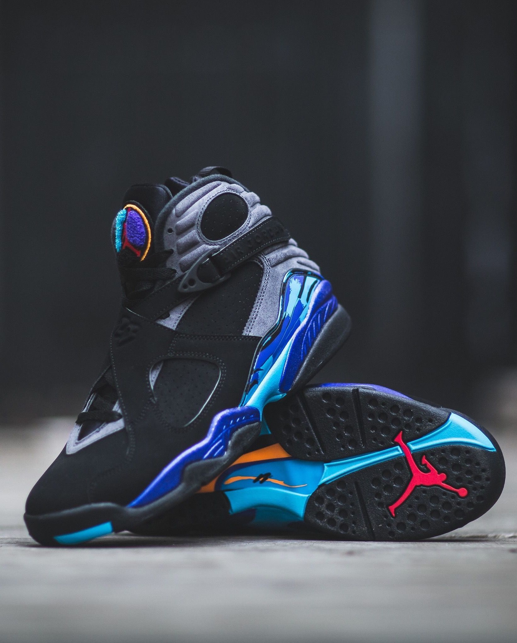 Air Jordan 8 Retro AQUA via Kicks daily