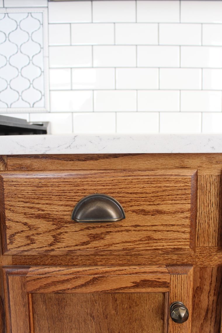 kitchen renovation cabinet stain and hardware kitchen diy rh pinterest com