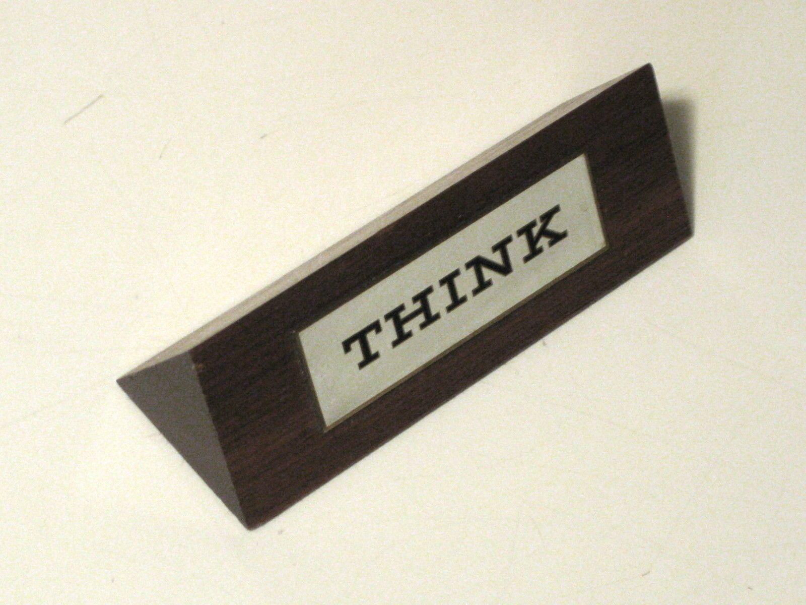 "Details about Vintage IBM ""THINK"" Desk Sign CLASSIC 1960s"