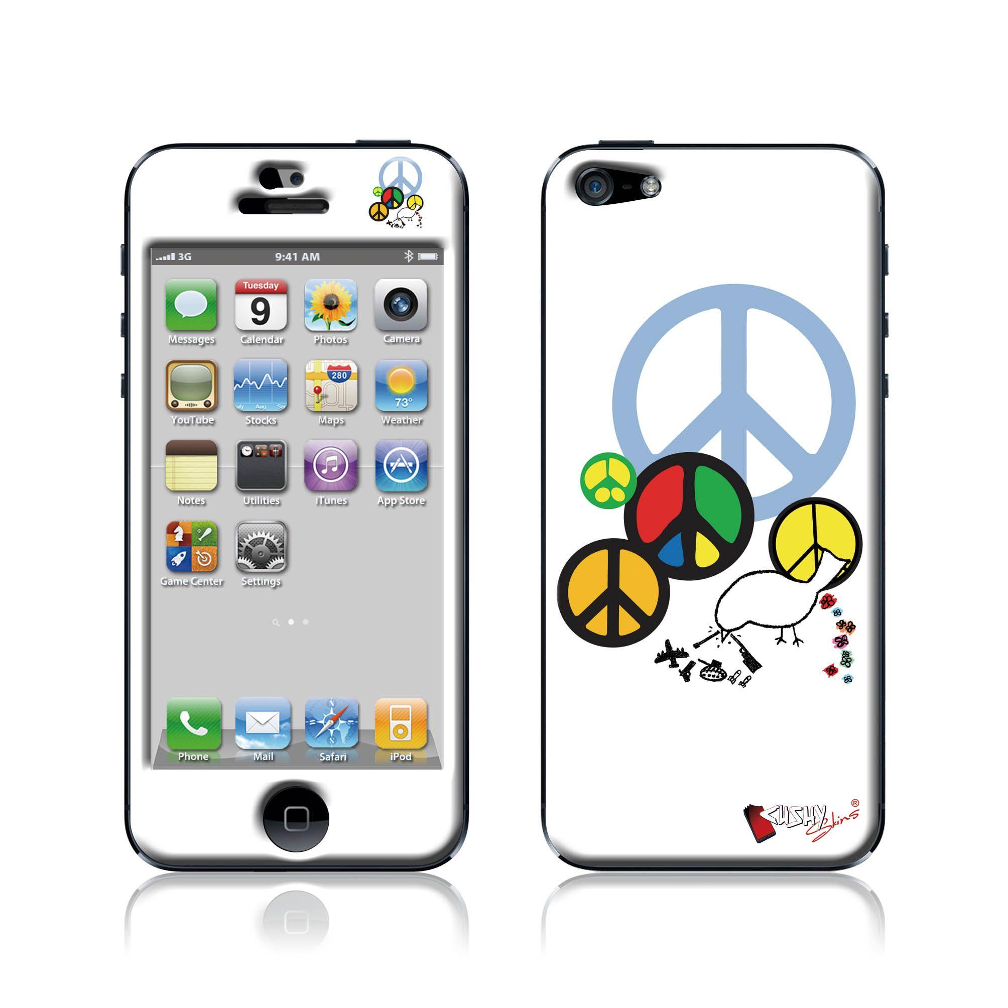 """Peace"" Doming SmartphoneCover - iPhone5 www.cushyskins.com"
