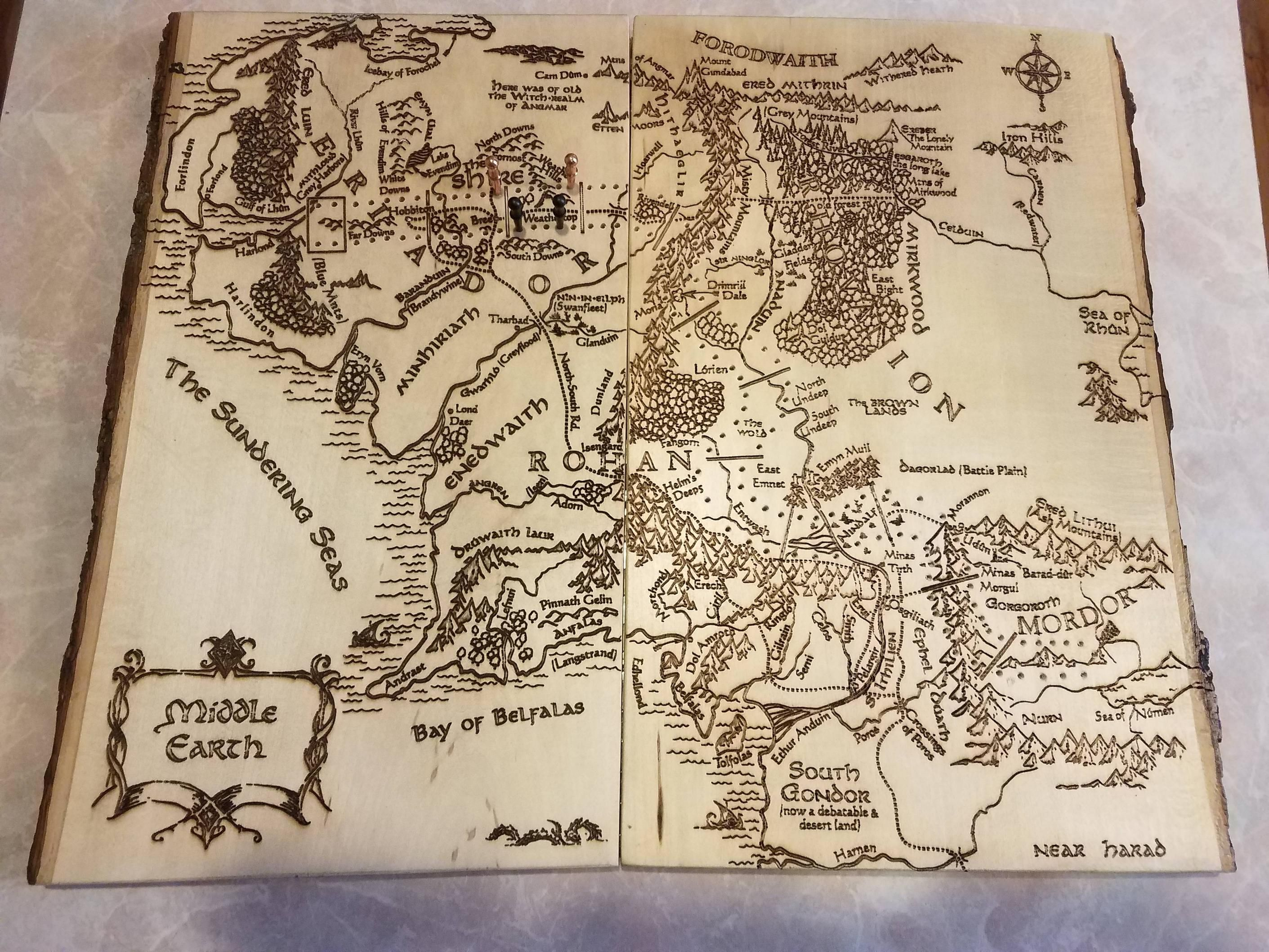 Lord of the Rings Cribbage Map Lord