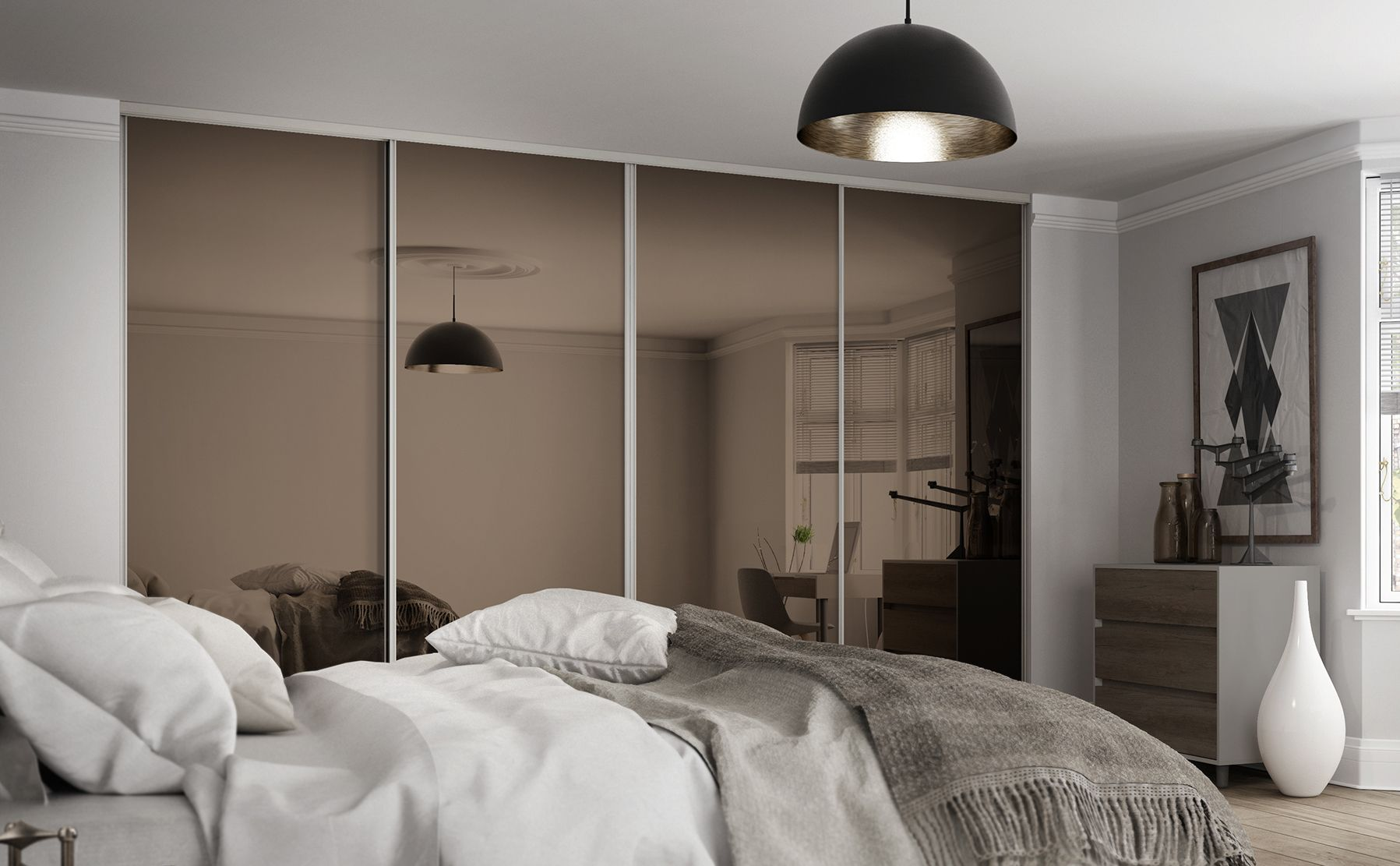 Sliding Wardrobe Design Mirror Master Bedrooms