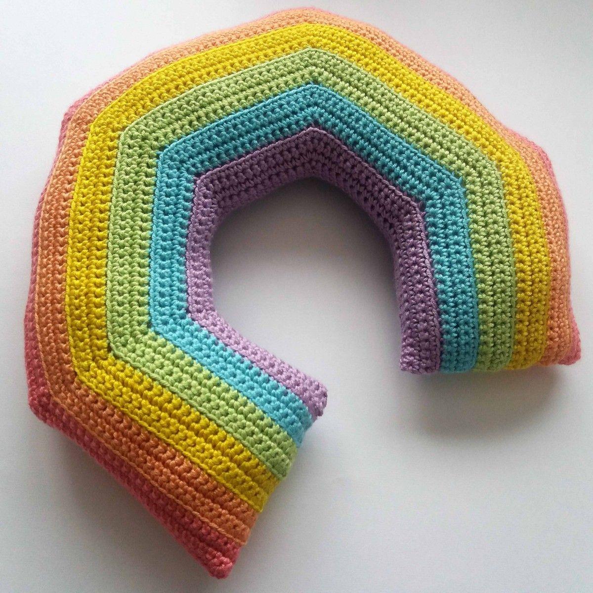 Crochet Travel Neck Pillow Patterns   Rainbows, Crochet and Crochet ...