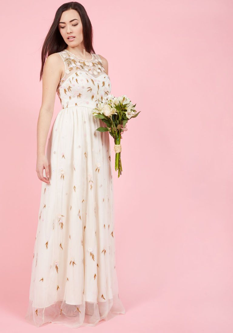The Simple Truth Maxi Dress in Ivory  Elopement wedding dresses