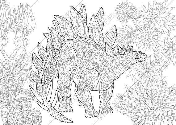 Downloadable Printable Dinosaur Coloring Pages Pdf