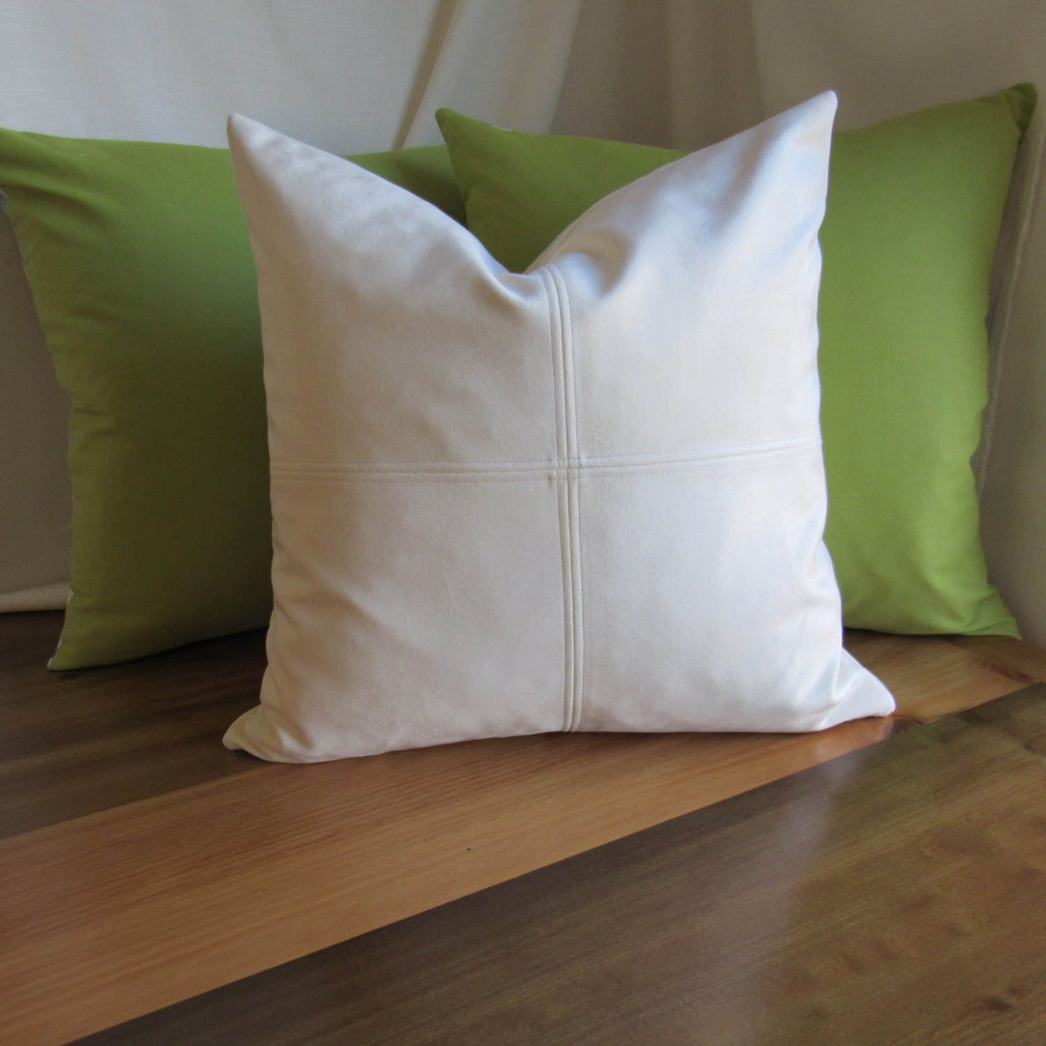 ultra suede decorative pillow cream color pillows with zippers rh pinterest com