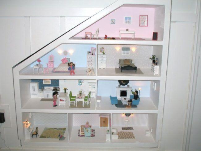 Puppenhaus Selber Bauen Wand Nische Gestalten Idee