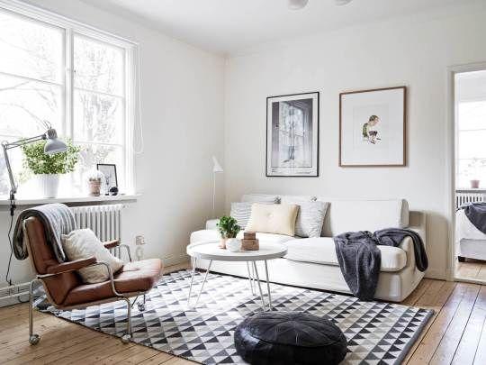 scandinavian home_gray_neutral_living room Living Rooms