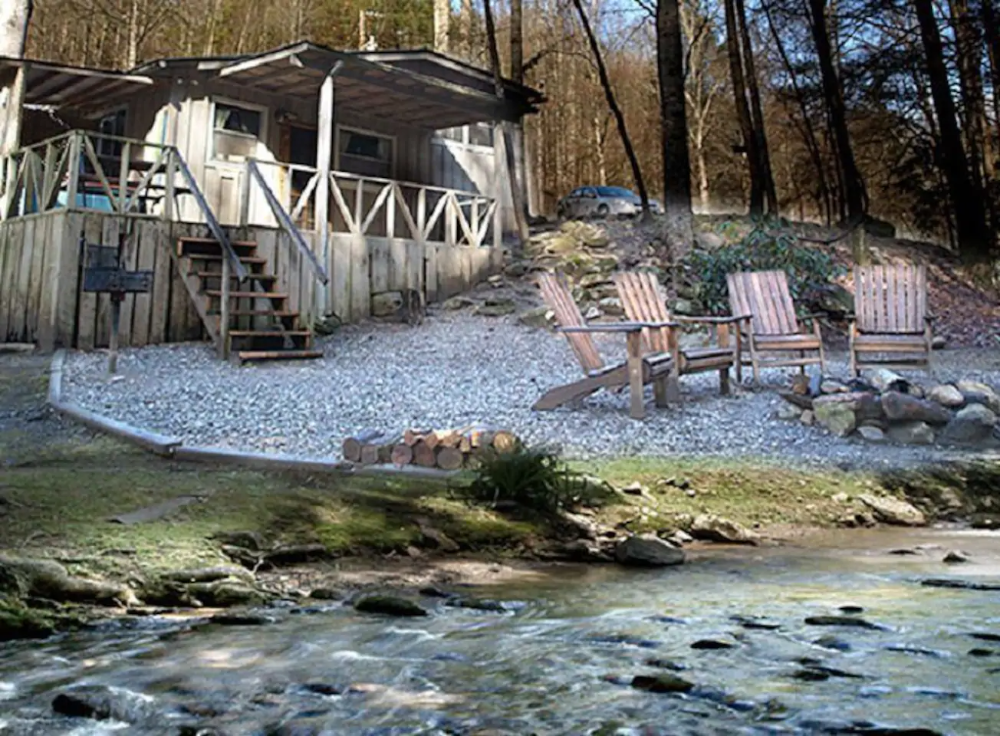 Rustic Creekside Log Cabins Smoky Mountains Cabins Pet Friendly Cabins Cabins In The Woods