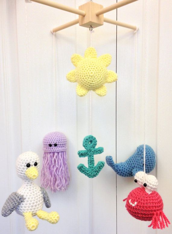 Baby Mobile Aquatic Mobile Ocean Mobile Beach By Thesimplyhooked