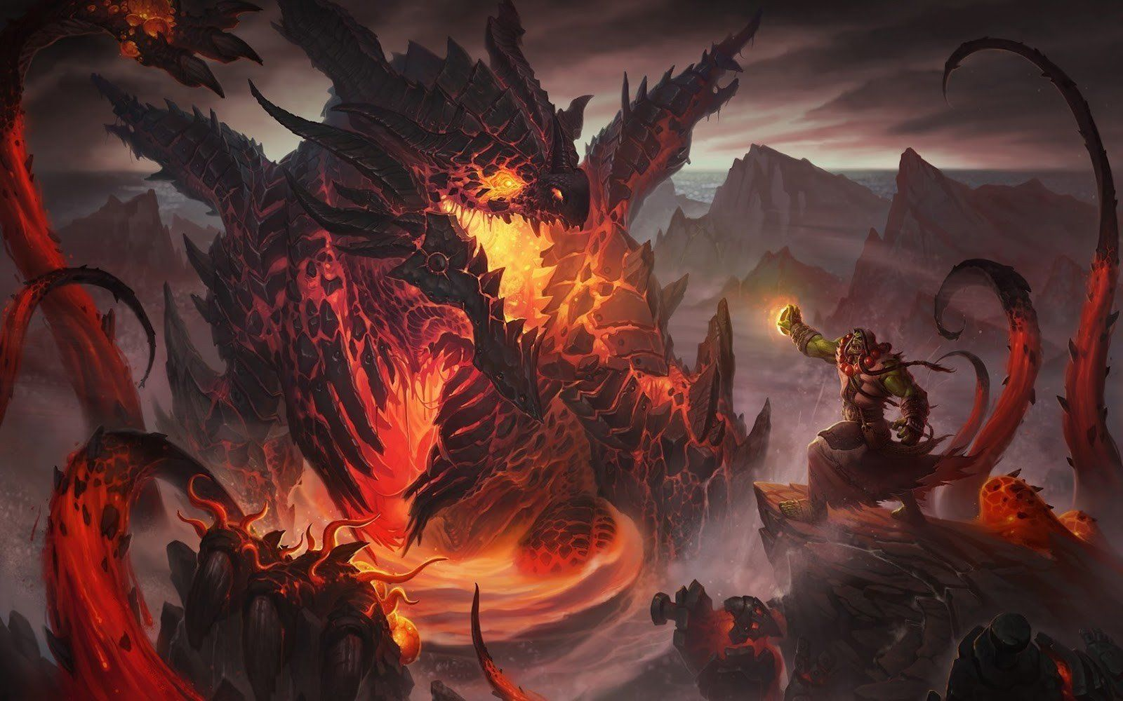 Wow Cataclysm Wallpaper En 2019 Dragones Monstruos Y Anime