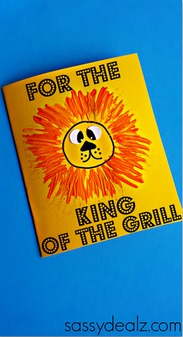 King Of The Grill Fathers Day Card For Kids To Make Use A Fork And
