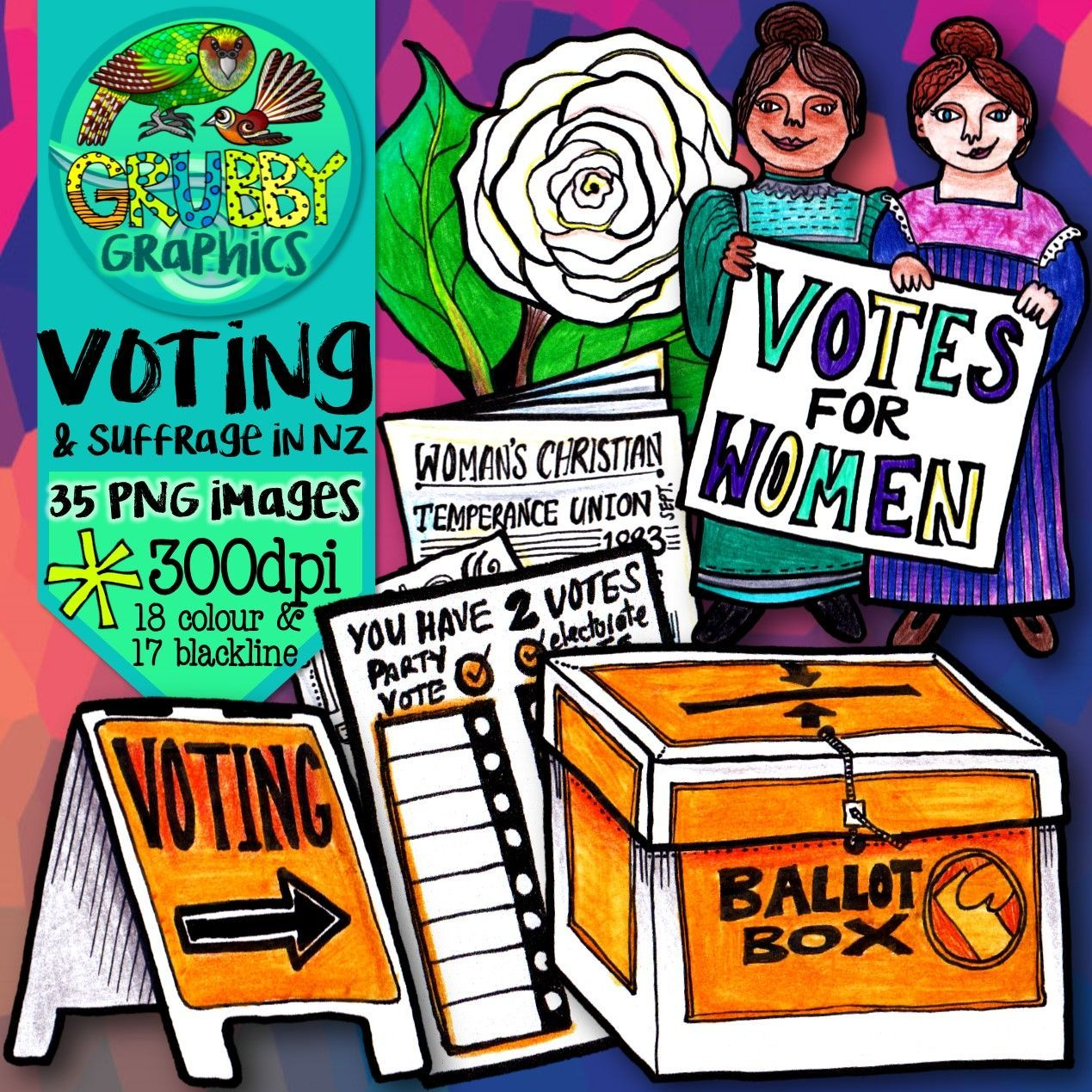 New Zealand Woman S Suffrage Amp Voting Clip Art