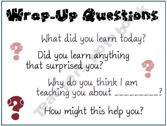 wrap up questions