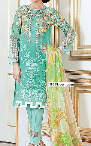 Sea Green Cotton Silk Suit | Buy Gul Ahmed Pakistani Dresses and ...