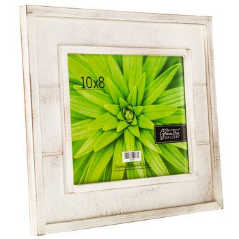 Distressed White Slatted Wood Frame 8 X 10 Wood Frame Distressed White White Picture Frames