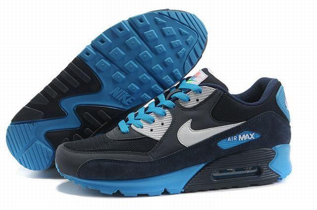 air max 90 sneakers,homme air max 90 noir et bleu   Nike air max ...