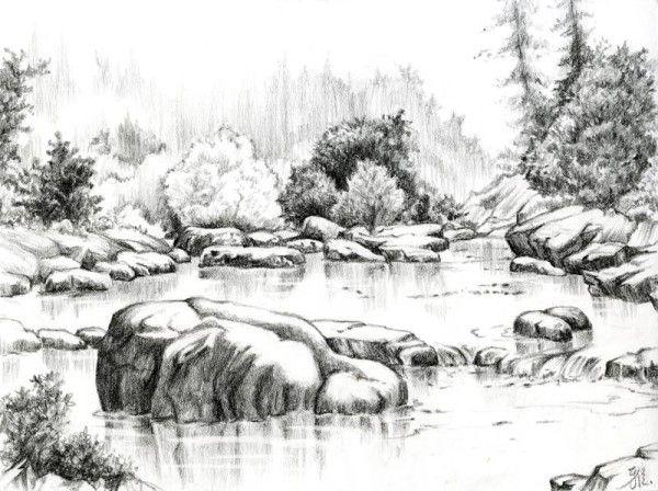 Beautiful Sketches Of Nature Nature pencil drawings ...