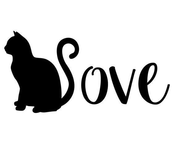 Cat decal love cats sticker car decal vinyl cat sticker kitty decal pet decal pet sticker