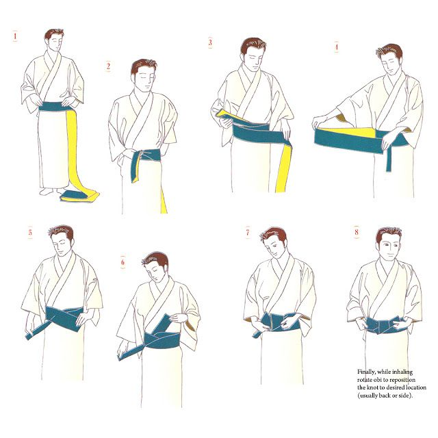 How to knot men's OBI