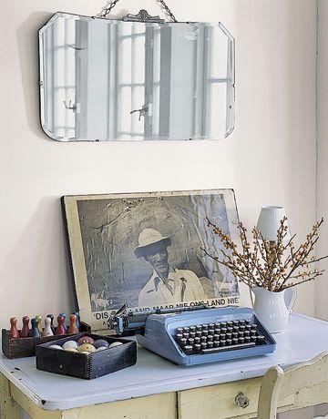 Vintage desk space