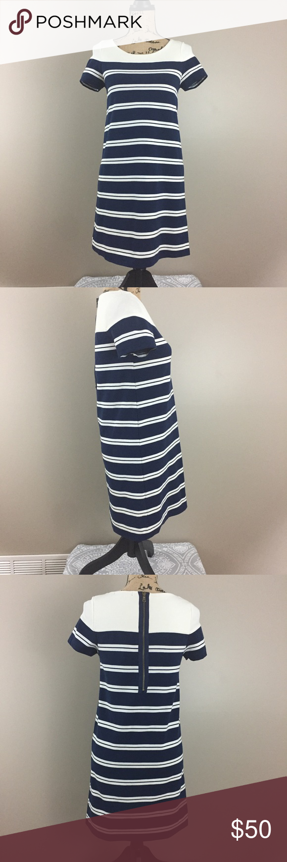 df912999e41 Zara Basic Nautical Stripe Dress
