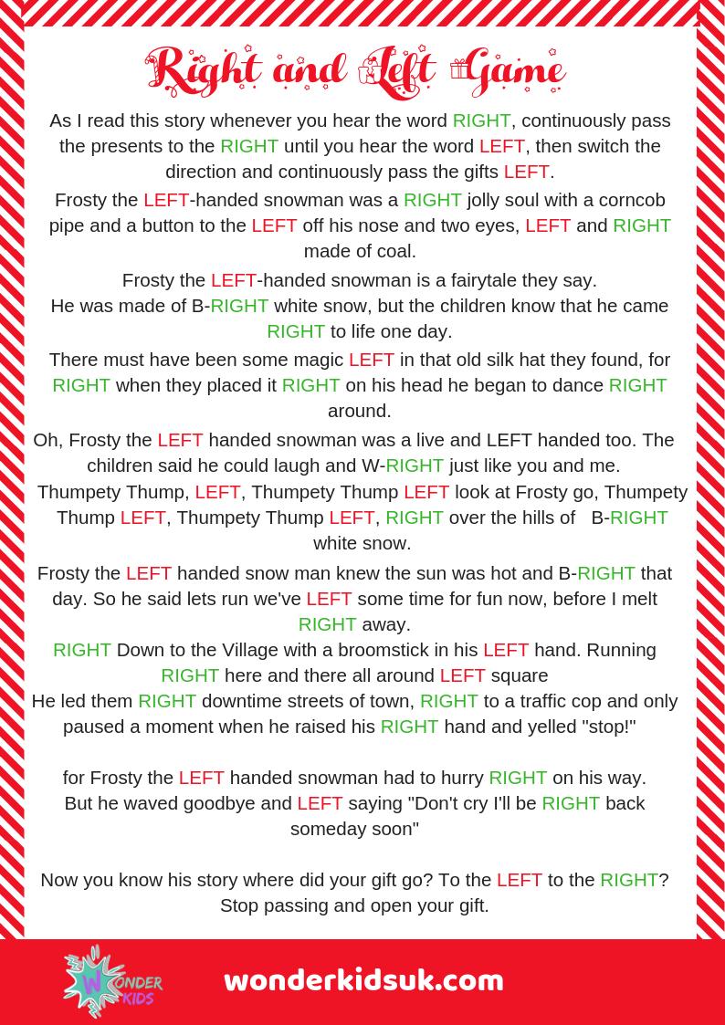 Left Right Game Christmas Christmas Games Christmas