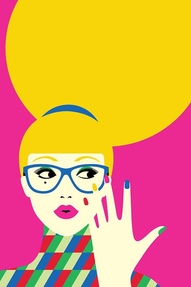 Malika Favre Wahanda Arte pop, Ilustração de rostos e
