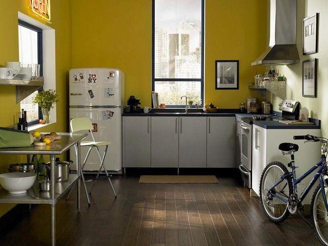 Grüne Wand Streichen Küche Farbideen Modern