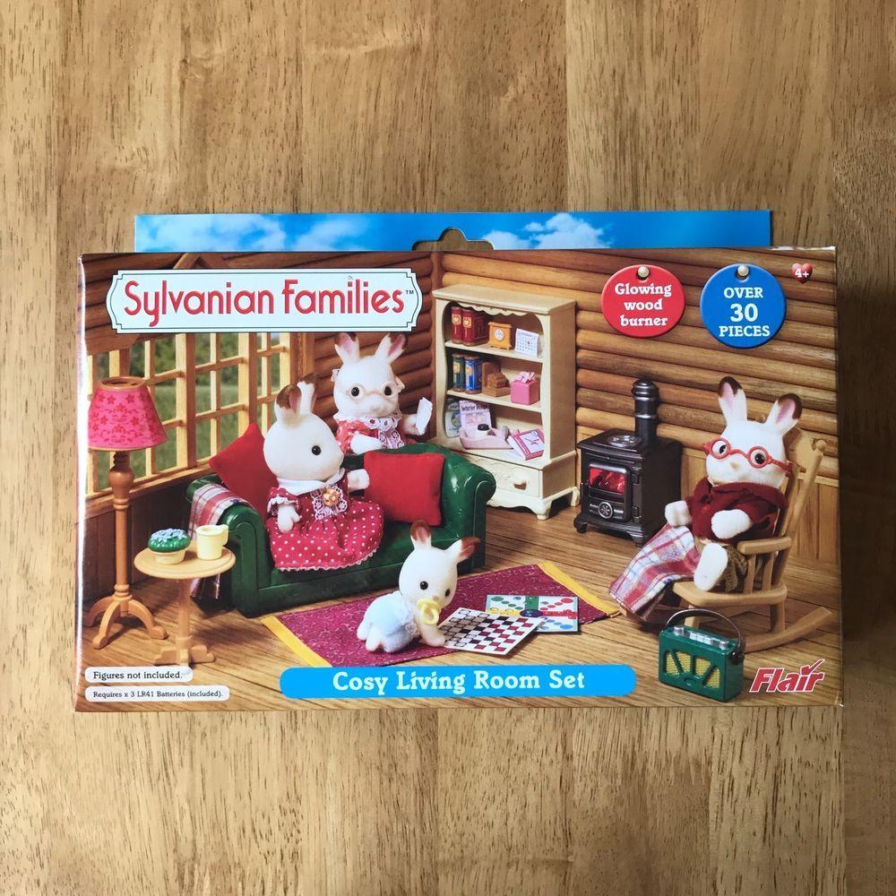 Sylvanian Families Flair Cosy Living Room Set RARE VERY ...