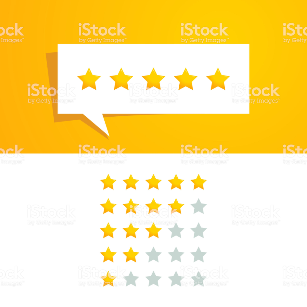 5 Five Star Rating Review Vector Design Template Royalty Free Advice Stock Vector