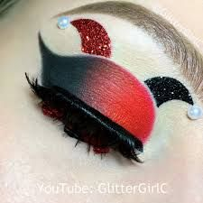 Harley Quinn Themed Eyeshadow