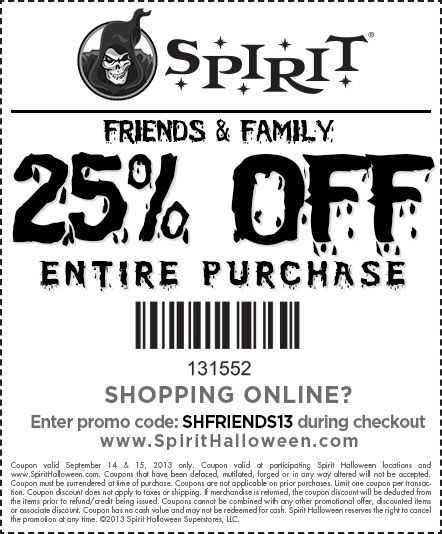photograph about Spirit Halloween Printable Coupon titled Pin through My Substantial Working day Occasions upon Halloween Spirit halloween