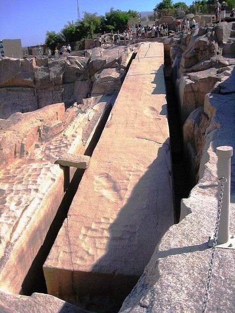 1200 tons; Aswan granite. Mysterious and accessible