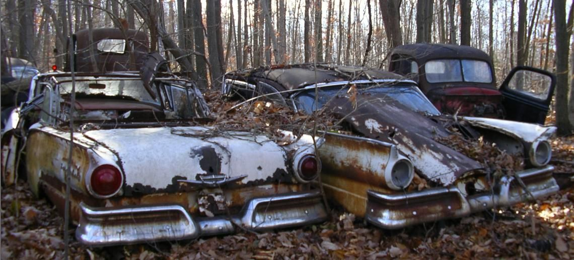 History Old Time Junk Yard Photos PIX 1920 to 1970 (With