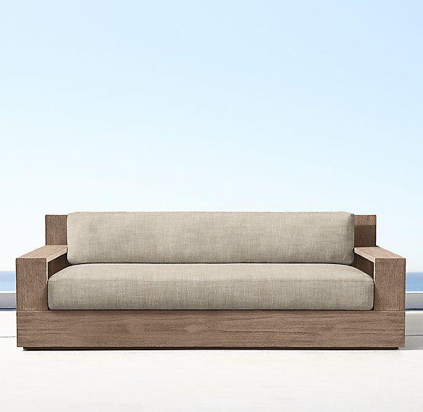60 Quot Marbella Teak Classic Sofa Weathered Teak Casual