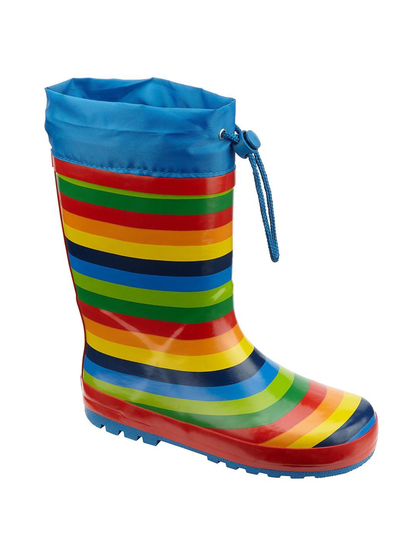 John Lewis & Partners Children's Rainbow Topper Wellington ...