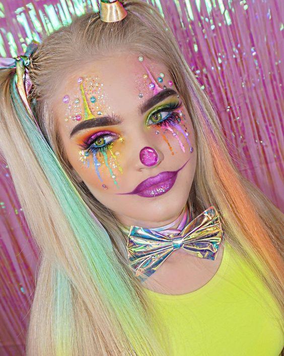 18 Erschreckende Clown-Make-up-Looks, die Halloween-Alpträume bescheren  Clowns & Circus #makeup - makeup