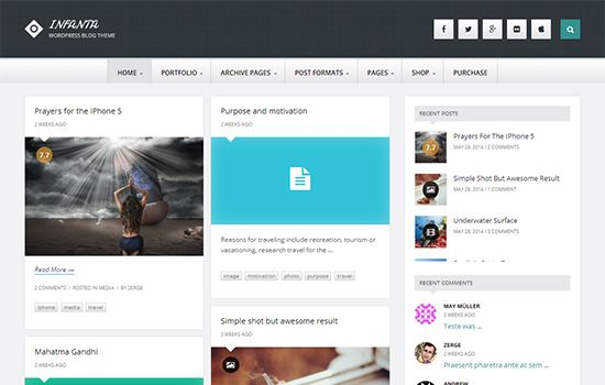Best #WordPress #Themes For #Writers Check out 35 Best WordPress ...